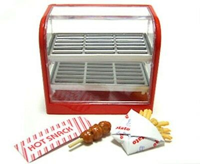 Re-ment dollhouse miniature convenience store snack warmer with snacks 2007