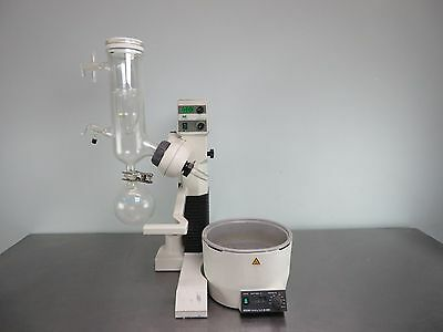 Buchi R-124 Rotavapor with Heating Bath and C-Glass Assembly with Warranty