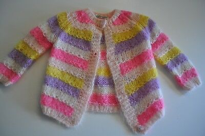 Vintage Sweater Girls size 6 Made in Italy Striped Cute