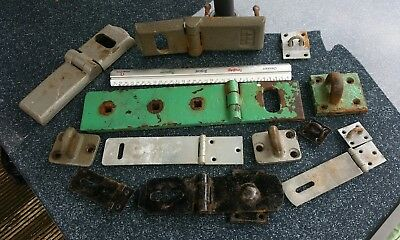 Old hasp and staple joblot.