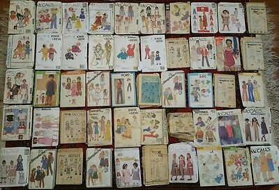 50 VINTAGE SEWING PATTERNS LOT McCALLS BUTTERICK SIMPLICITY ANNIE BROOKE SHIELDS