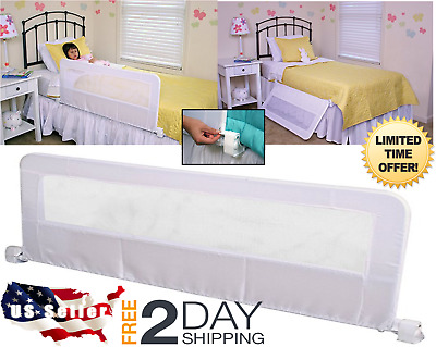 Hide Away Extra Long Bed Rail White Child Protection Safety Sleep Barrier