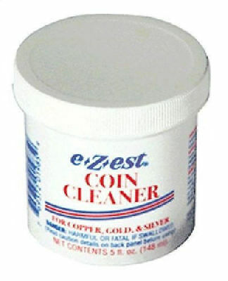 EZ EST E-Zest E-Z-EST COIN CLEANER DIP for Gold Silver Copper 5 oz Jar