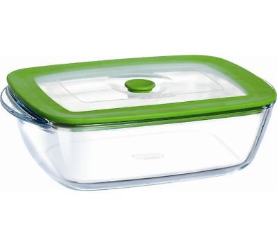PYREX Square 0.3-litre Dish with Lid - Clear