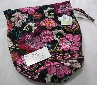Vera Bradley MOD FLORAL PINK Ditty BAG Gym SHOE Diaper BABY Beach TOTE Book  NWT 295873cb9cc56