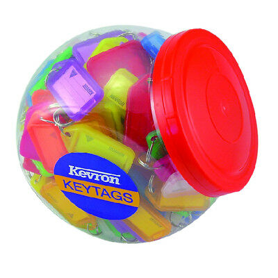 Kevron Plastic Clicktag Key Tab Tub Assorted Pk 150 Id5Ac150