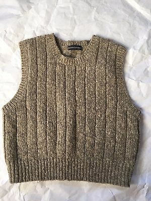 BANANA REPUBLIC Tan Sweater Vest, Boys Size Large L