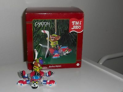 Carlton Tom And Jerry Hockey Hijinks Christmas Ornament 1998 In Box