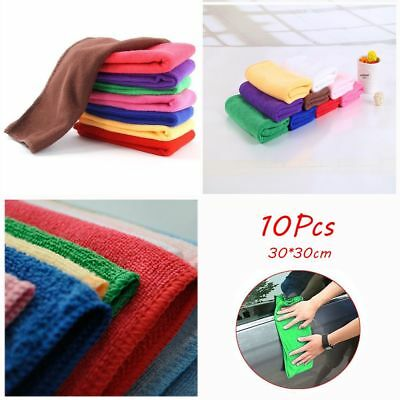10Pcs Soft New Auto Care Detailing Car Wash Towel Microfiber Cleaning Duster