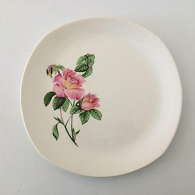 6x H Aynsley & Co Staffordshire Pottery Dinner Plates Vogue Tableware Pink Roses
