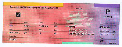 Orig.ticket     Olympic Games LOS ANGELES 1984  -  BOXING // 05.08.  !!  RARE
