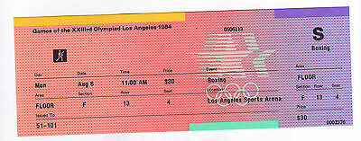 Orig.ticket     Olympic Games LOS ANGELES 1984  -  BOXING // 06.08.  !!!!  RARE
