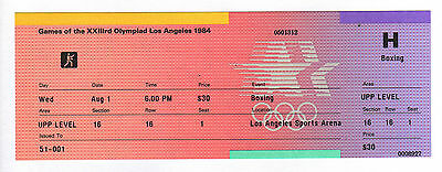 Orig.ticket     Olympic Games LOS ANGELES 1984  -  BOXING // 01.08.  !!!!  RARE