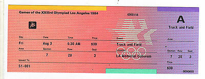 Orig.ticket  Olympic Games LOS ANGELES 1984 - 03.08.- with 2 FINAL`s Athletics !