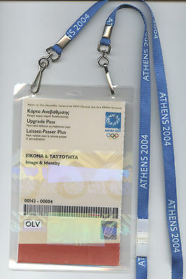 Orig.Ticket / Pass     XXVIII.Olympic Games ATHEN 2004  !!  EXTREM RARE