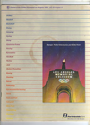 Orig.PRG + Ticket Info.    Olympic Games LOS ANGELES 1984   !!!   VERY RARE