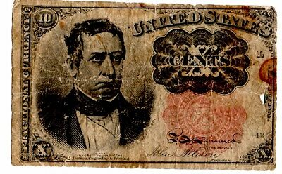 1849 United States 10 cent bank note.