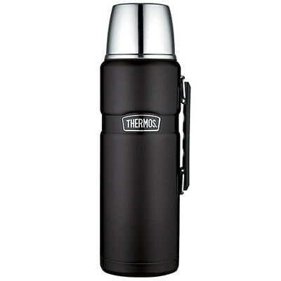 CWRE-56903-Thermos Stainless King Vacuum Insulated Beverage Bottle - Black - 2L