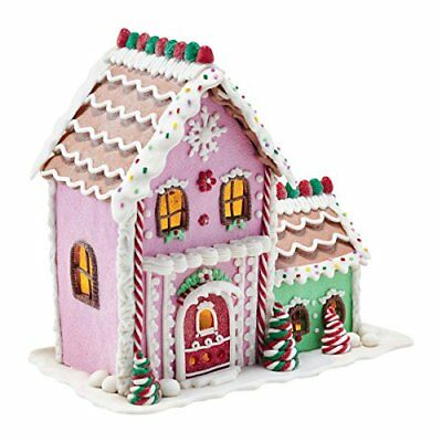 Department 56 Mrs. Claus Sweet Shoppe Lit Gingerbread Sweet Shoppe Ornament 8.5""