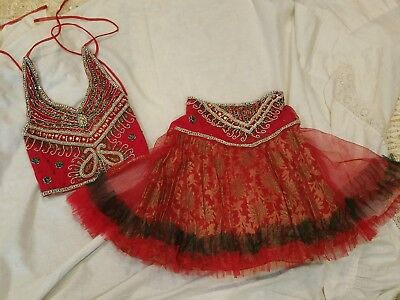 Alfi Girl's Indian Dance Pageant Costume Outfit, Jeweled