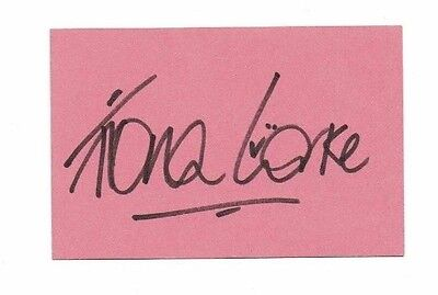 Fiona Corke Actress Alison Mills  Prisoner Cell block H Hand signed card 4 x 2