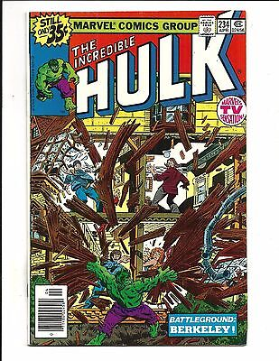 INCREDIBLE HULK # 234 (MARVEL MAN becomes QUASAR, APR 1979), NM-