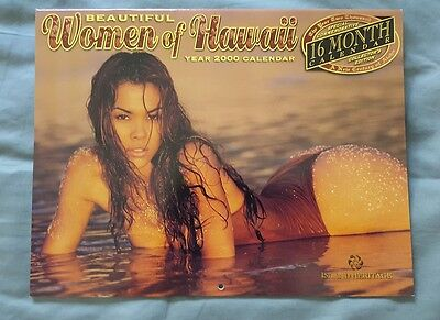 Commerative Collectors edition 2000 Beautiful Girls Hawaii 16 month Calendar