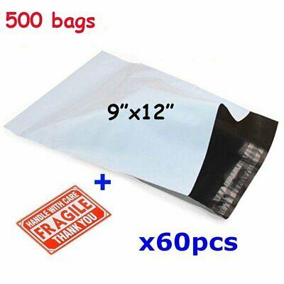 500 9x12 Poly Mailers Bags Plastic Self Sealing Envelopes Free Shipping