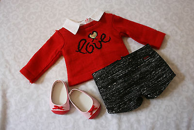 American Girl of the Year GRACE CITY OUTFIT sweater set lot shorts shoes