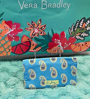 "Vera Bradley Retired Checkbook Cover ""bermuda Blue"" Euc"