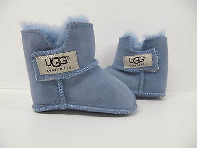 baby Ugg boot shoes slippers blue girls boys 6-12  months medium booties