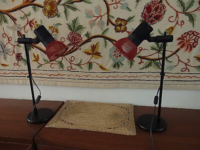 Matched Pair Mid Century Neweba Reading or Desk Lamps - Swiss