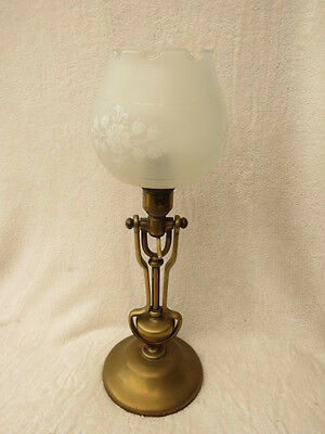 Antique/vintage Heavy Brass Ship, Boat, Train Gimbal Table Wall Lamp