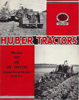 Huber Manufacturing Tractors Sales Brochure Marion, Ohio OH
