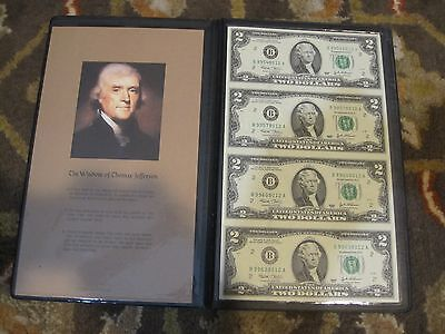 2003 $2 Uncut sheet of 4 from the New York District 2-B - Uncirculated