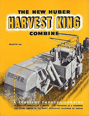 Huber Manufacturing New Harvest King Combine Sales Brochure Marion, Ohio OH