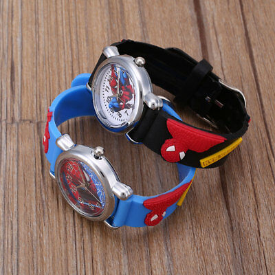 Cartoon Movie Child Fashion Rubber Leather Boy Analog Wrist Watch Gift