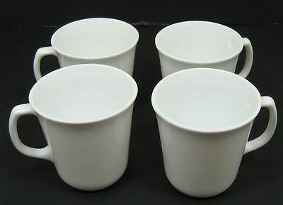 """Lot/4 Corelle """"Winter Frost White"""" Cups with D Handles"""