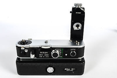 Nikon MD-1 Motor With MB-1 Battery Pack For F2 W/ 2 MS-1 AA Carriers