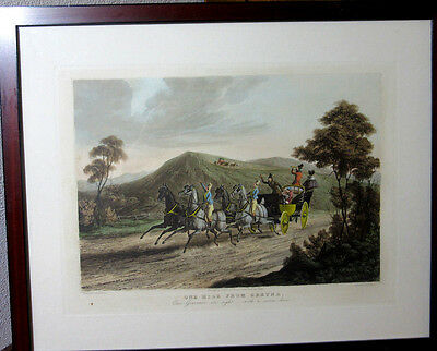 """Schöner alter Druck """"One Mile from Cretna"""" Engraved by R.G. Reeve"""