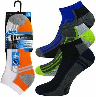 12 Prs Mens Trainer Socks Sports Work Ankle Cushioned Sole Heel Toe Size 6 - 11