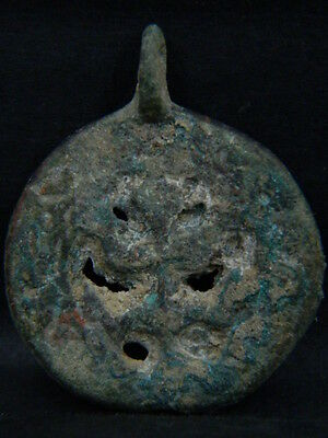 Ancient Bronze Pendant Bactrian 300 BC #BR7265