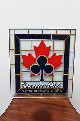 Vintage Canadian Club Stained Glass Sign