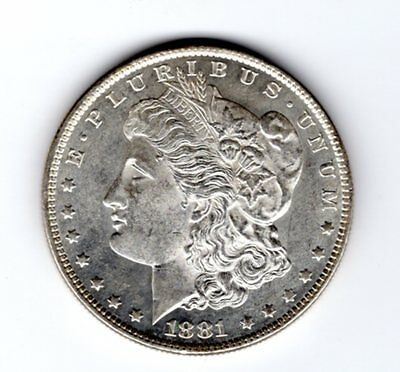 1881-O $1 Morgan Silver Dollar  BU