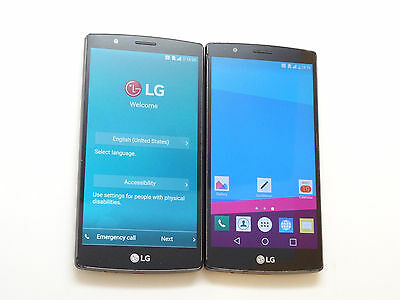 Lot of 2 LG G4 GSM Unlocked Smartphones Both Power On AS-IS GSM