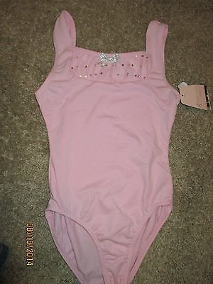 NWT Danskin Pink Freestyle New Leotard SIZE Small 6/6x SILVER BOW