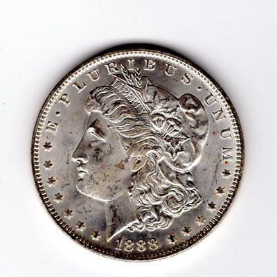 1888 New Oirleans Mint  $1 Morgan Silver Dollar  BU