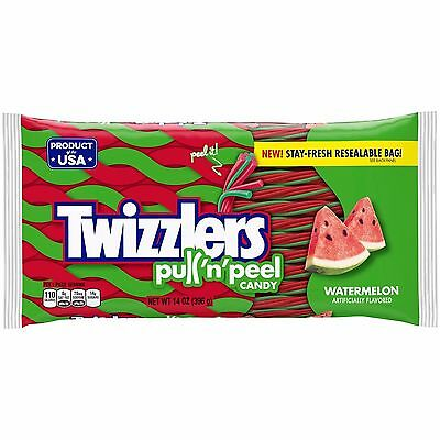 New Sealed Twizzlers Pull 'n'peel Candy Watermelon Artificially Flavored 14 Oz