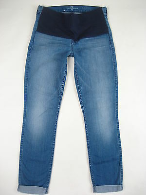7 Seven For All Mankind Maternity Jeans The Skinny Crop & Roll 25 XS NEW