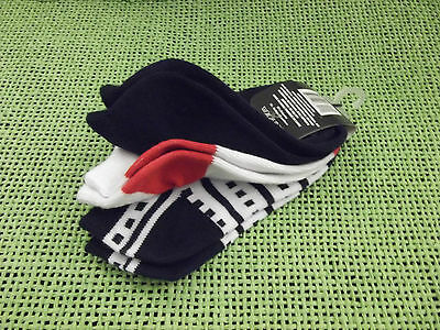 3 Pair Girls/Boys/Unisex Casual Ankle Socks-Size 4-6-NWT-Red, White & Blue